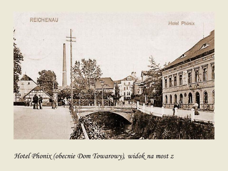Hotel Phonix (obecnie Dom Towarowy), widok na most z