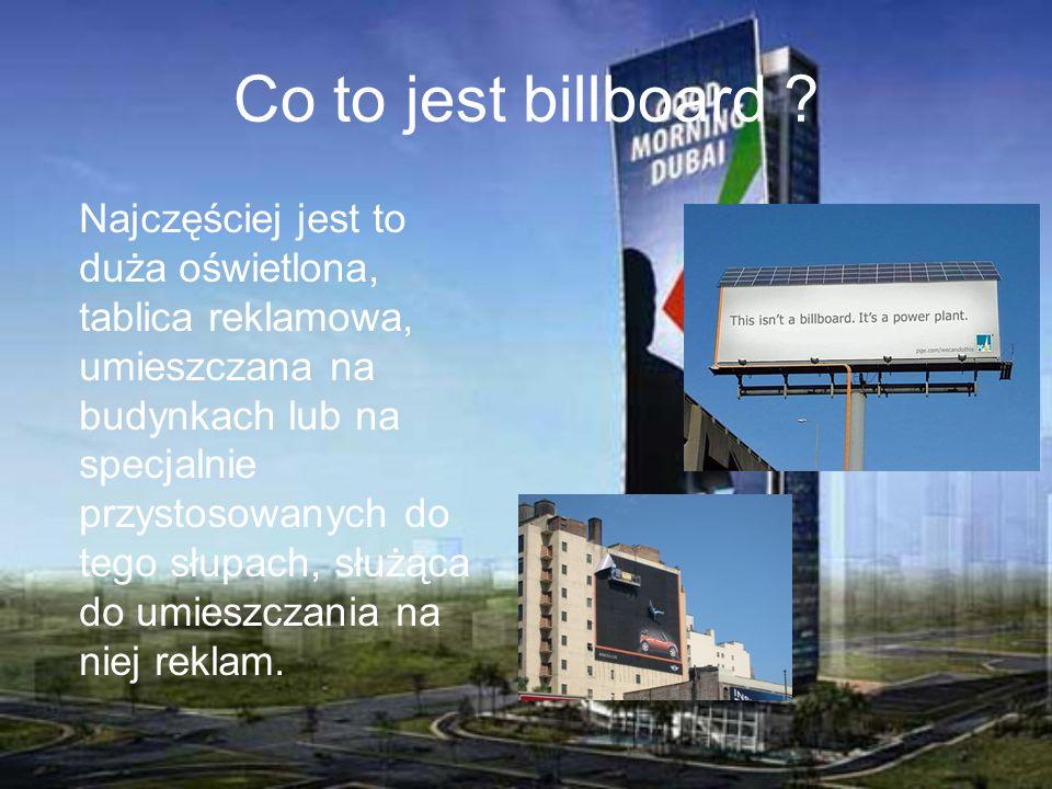 Co to jest billboard