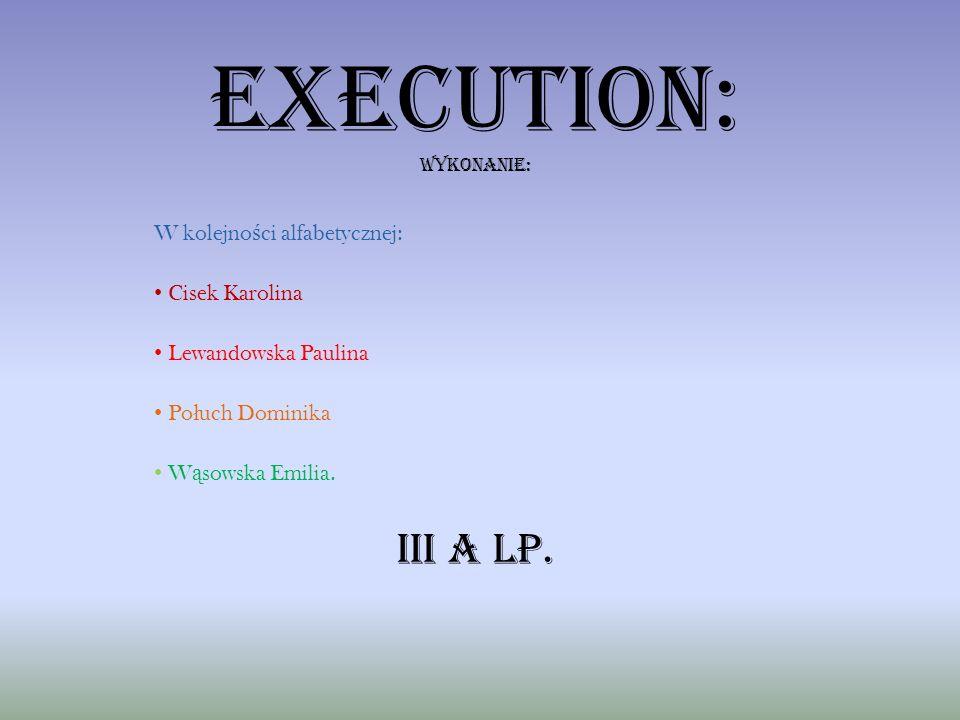 Execution: wykonANIE: