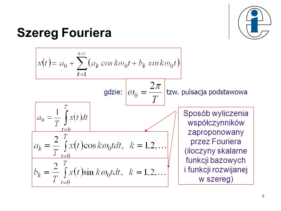 Szereg Fourieragdzie: tzw. pulsacja podstawowa.