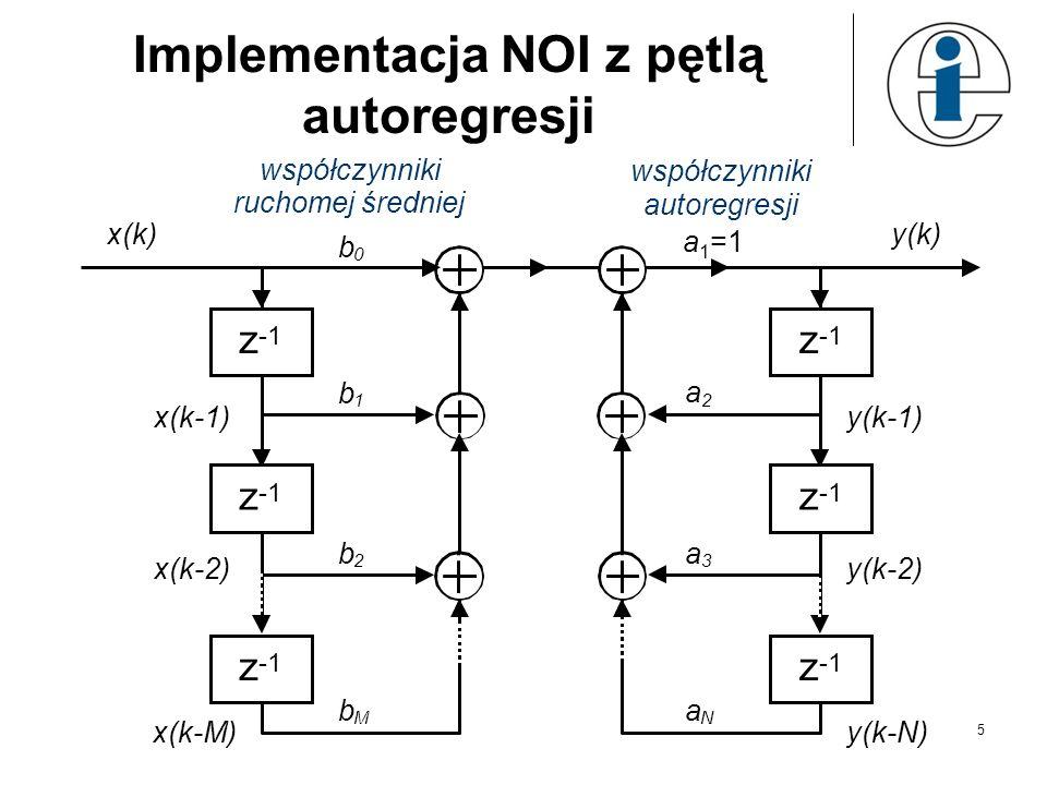 Implementacja NOI z pętlą autoregresji