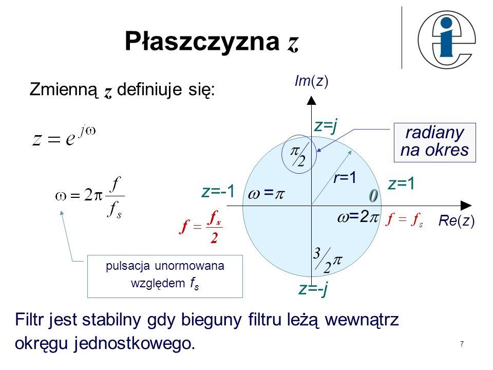 pulsacja unormowana względem fs