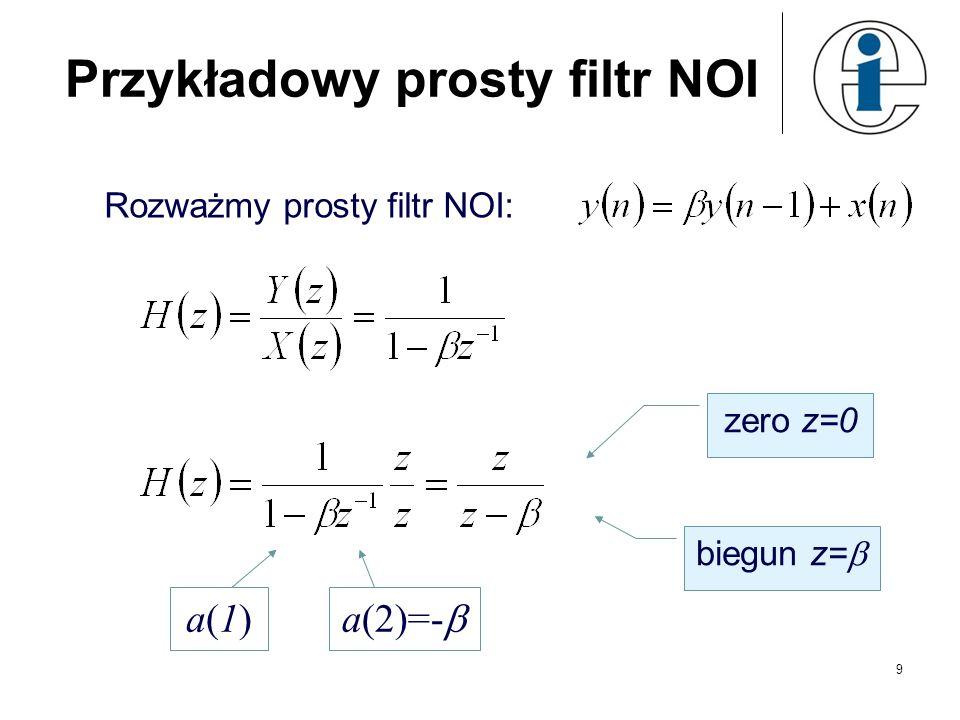 Przykładowy prosty filtr NOI