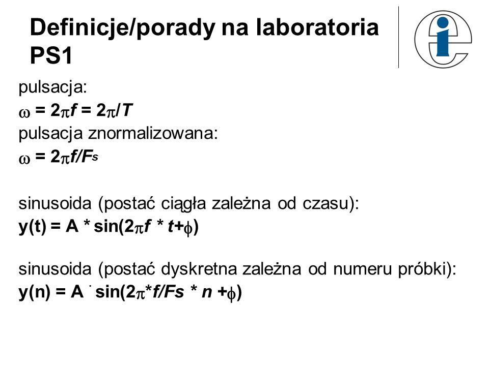 Definicje/porady na laboratoria PS1