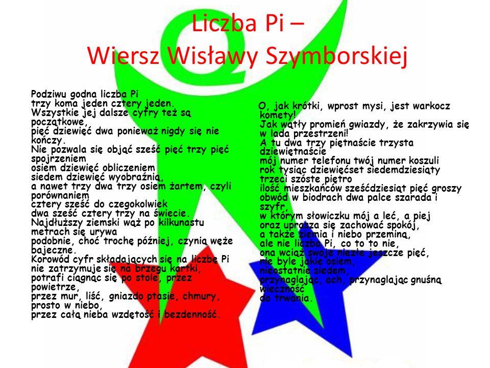 Liczba Pi – Wiersz Wisławy Szymborskiej