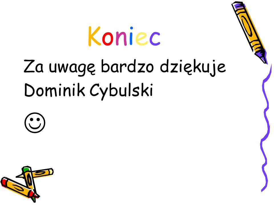 Koniec Za uwagę bardzo dziękuje Dominik Cybulski 