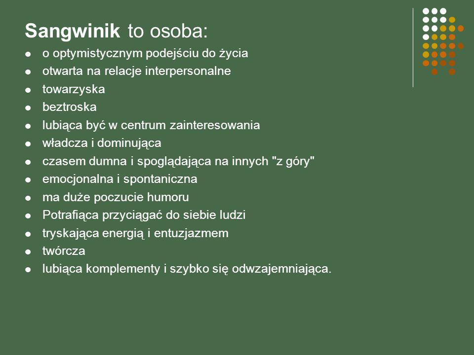 Sangwinik to osoba: o optymistycznym podejściu do życia