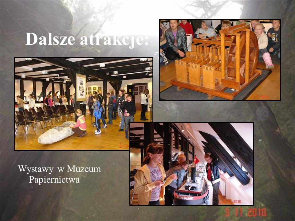 Dalsze atrakcje: Wystawy w Muzeum Papiernictwa