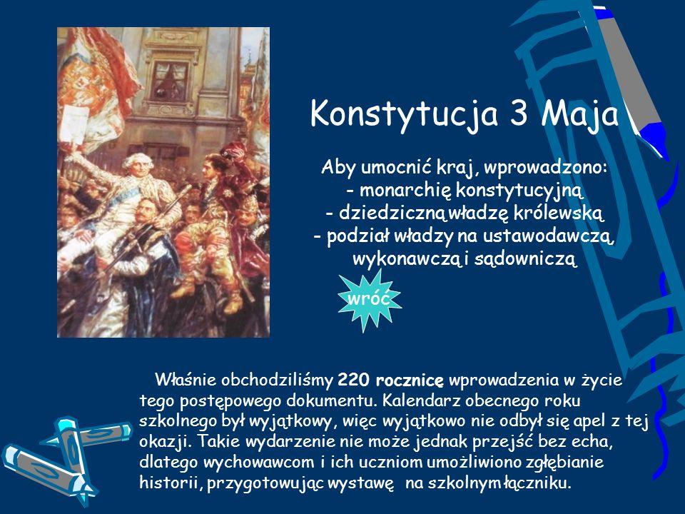 Konstytucja 3 Maja Aby umocnić kraj, wprowadzono: