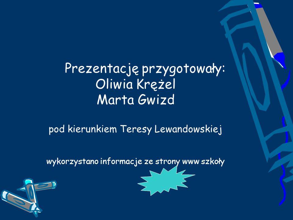 Prezentację przygotowały: Oliwia Krężel Marta Gwizd