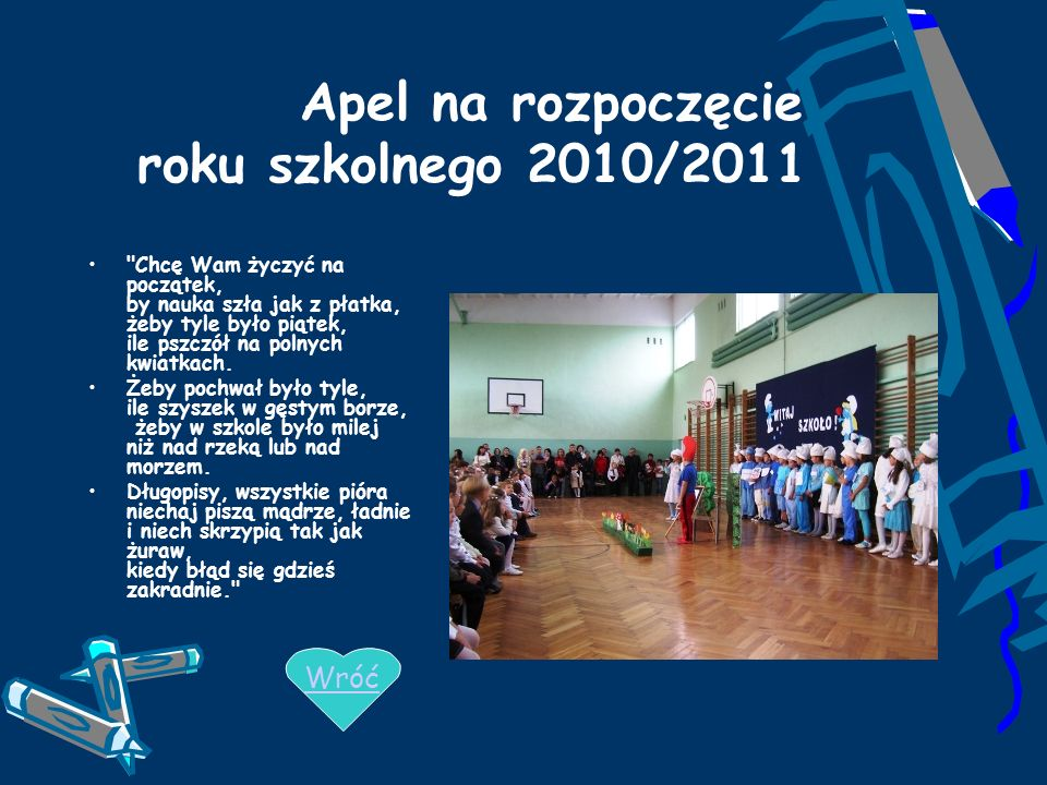 Apel na rozpoczęcie roku szkolnego 2010/2011