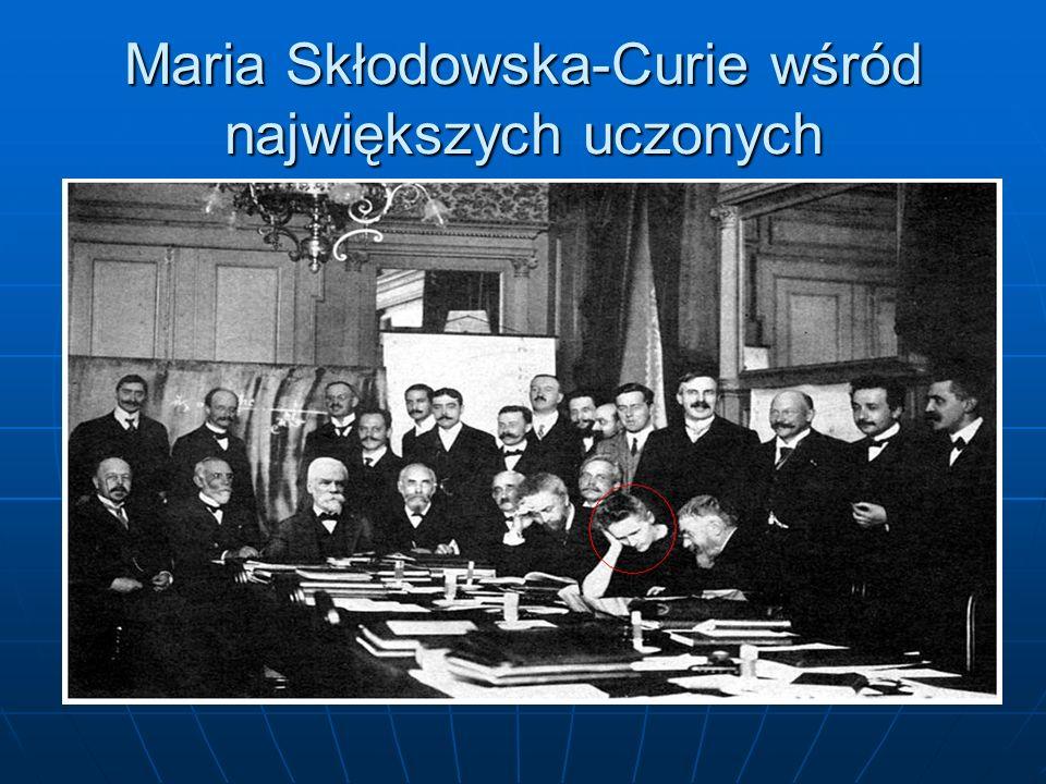 Maria Skłodowska-Curie wśród największych uczonych