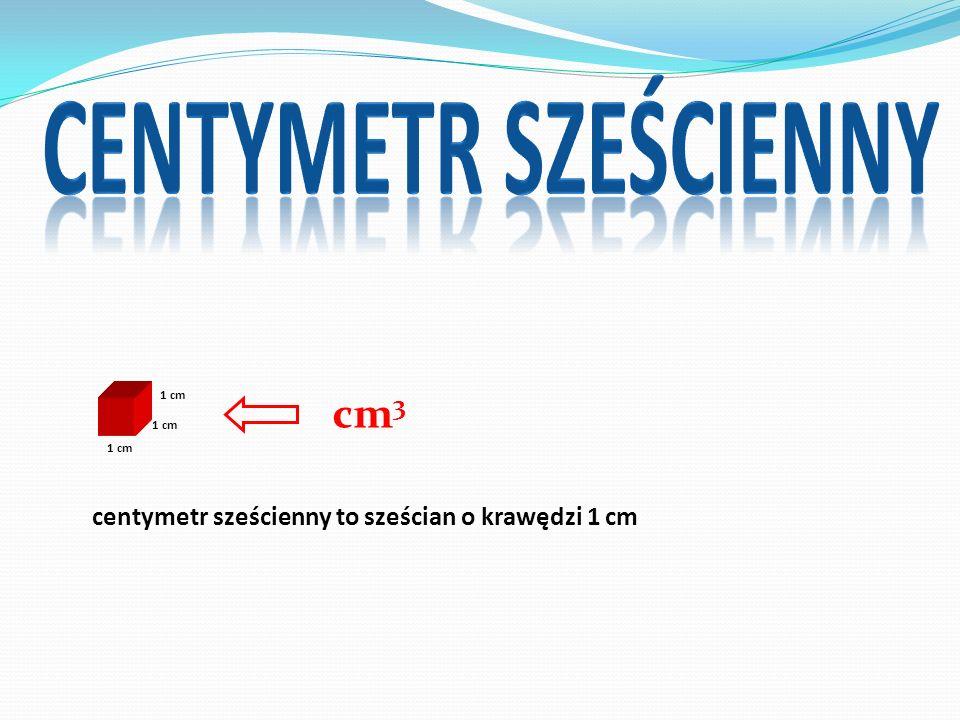 centymetr sześcienny cm3