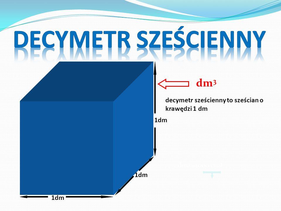 DECYMETR SZEŚCIENNY dm3