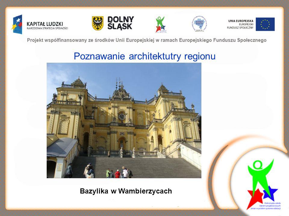 Poznawanie architektutry regionu