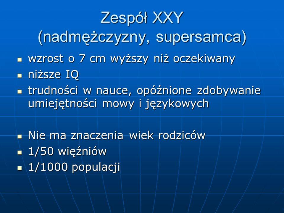 Zespół XXY (nadmężczyzny, supersamca)