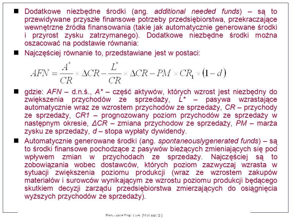 Najczęściej równanie to, przedstawiane jest w postaci: