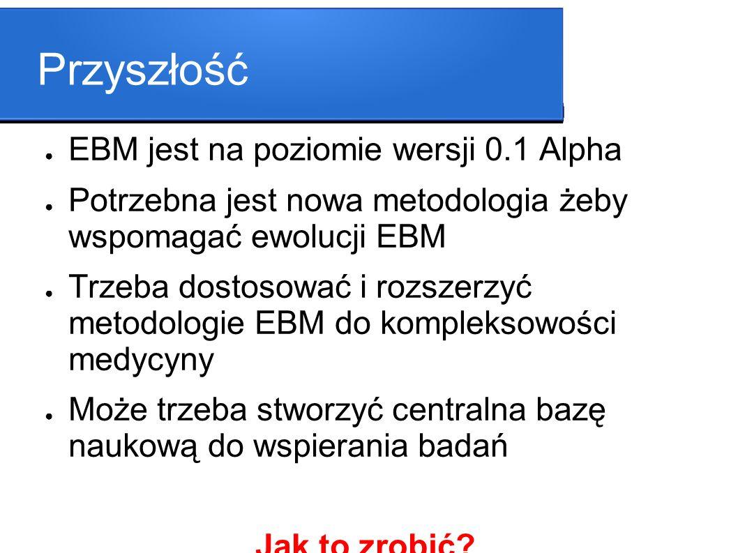 Przyszłość EBM jest na poziomie wersji 0.1 Alpha