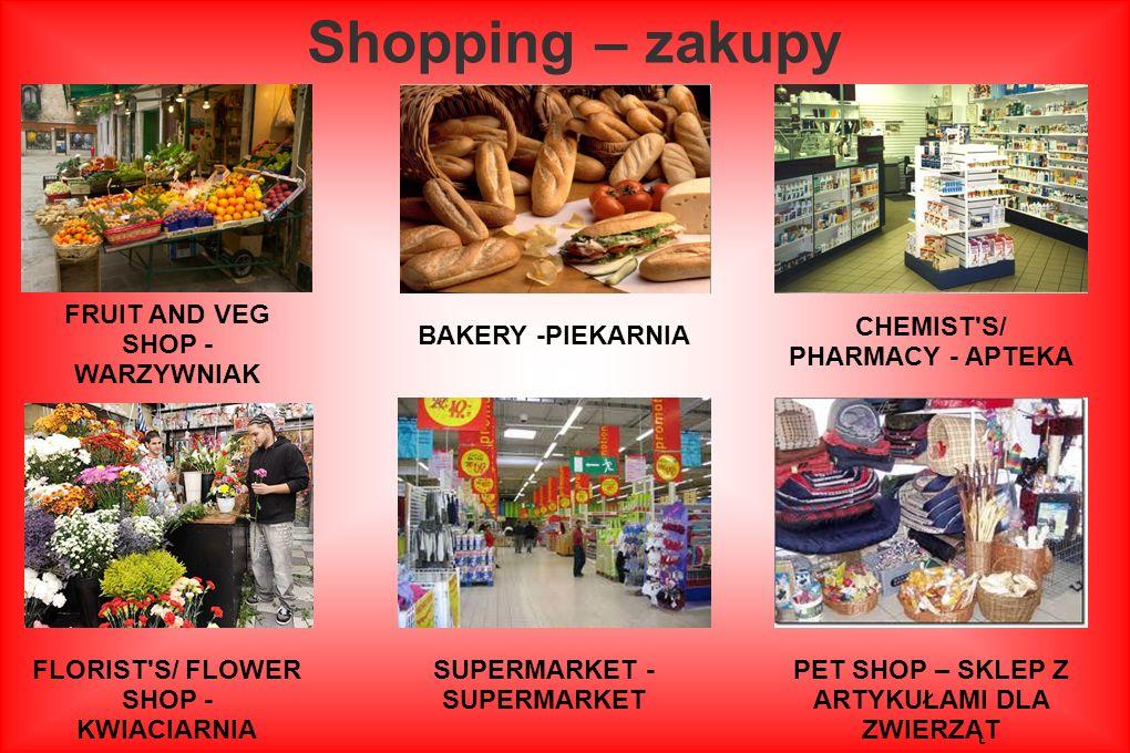 Shopping – zakupy FRUIT AND VEG SHOP - WARZYWNIAK