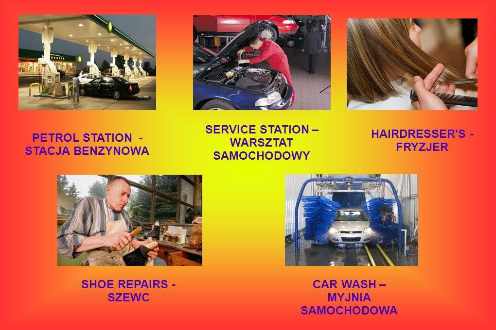 SERVICE STATION – WARSZTAT SAMOCHODOWY HAIRDRESSER S - FRYZJER