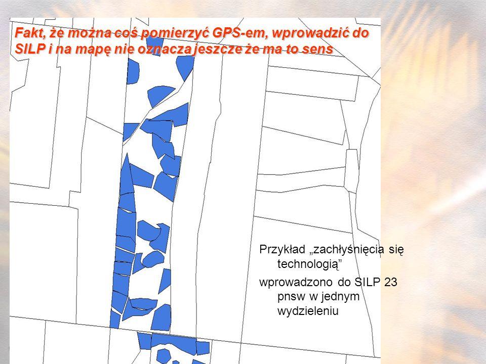 Fakt, że można coś pomierzyć GPS-em, wprowadzić do SILP i na mapę nie oznacza jeszcze że ma to sens