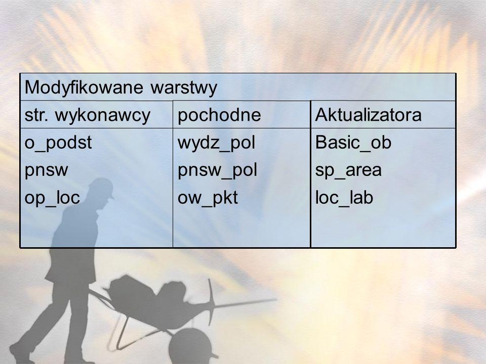 Basic_ob sp_area. loc_lab. Aktualizatora. pochodne. str. wykonawcy. wydz_pol. pnsw_pol. ow_pkt.