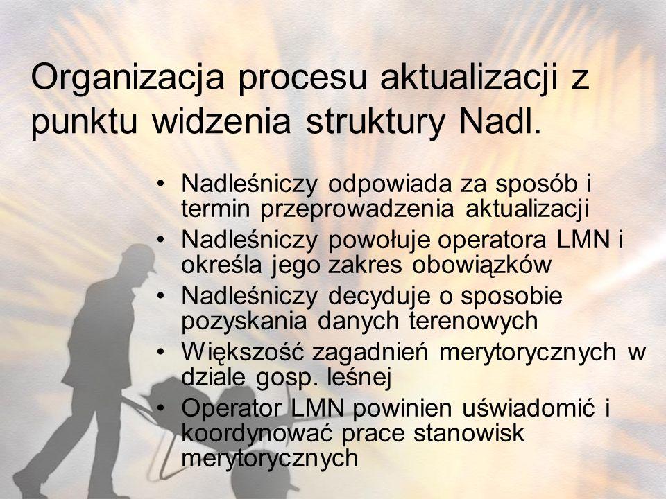 Organizacja procesu aktualizacji z punktu widzenia struktury Nadl.