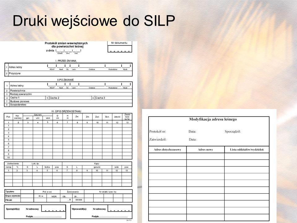Druki wejściowe do SILP