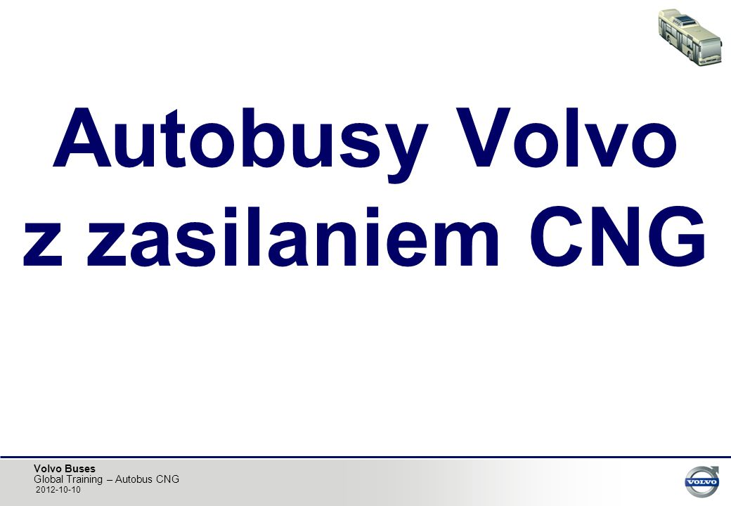 Autobusy Volvo z zasilaniem CNG