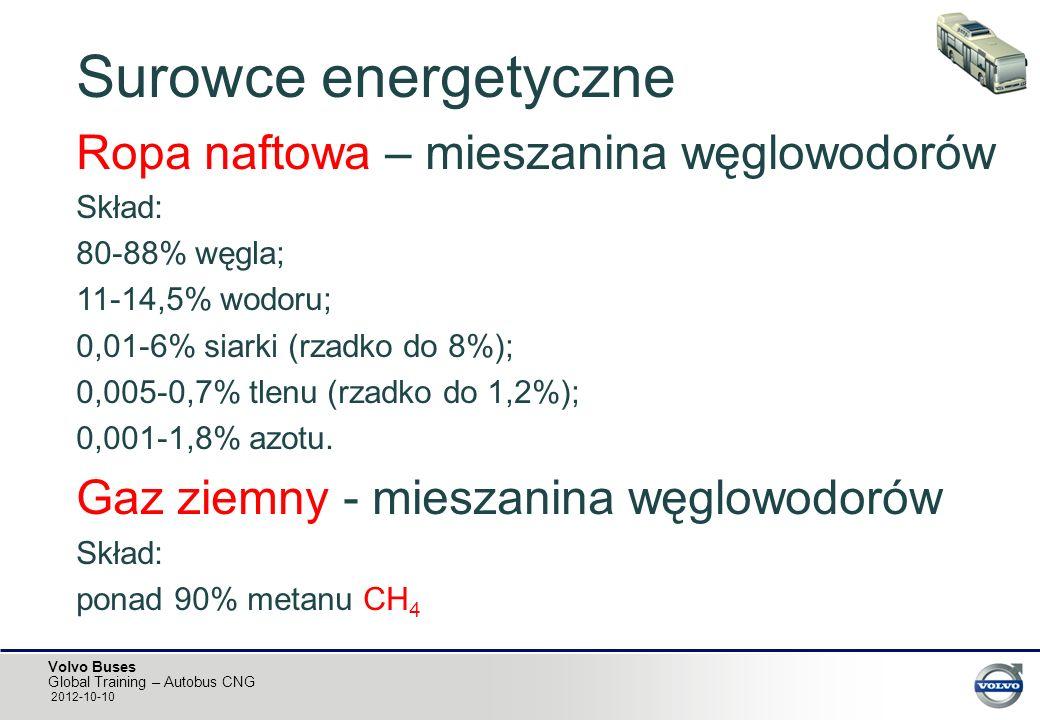 Surowce energetyczne Ropa naftowa – mieszanina węglowodorów