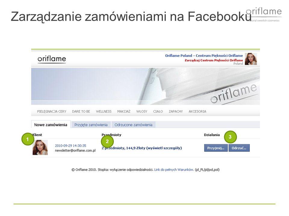 Zarządzanie zamówieniami na Facebooku