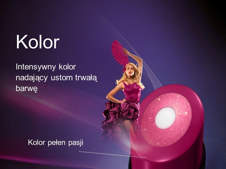Kolor Intensywny kolor nadający ustom trwałą barwę Kolor pełen pasji
