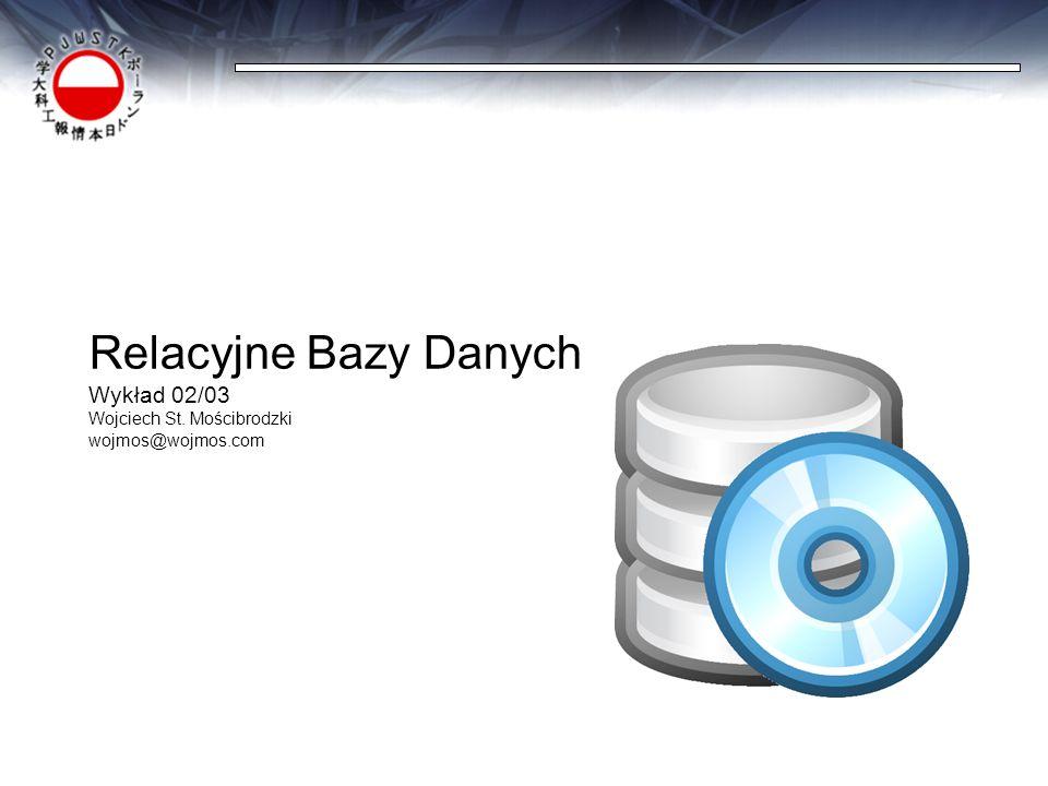Relacyjne Bazy Danych Wykład 02/03 Wojciech St