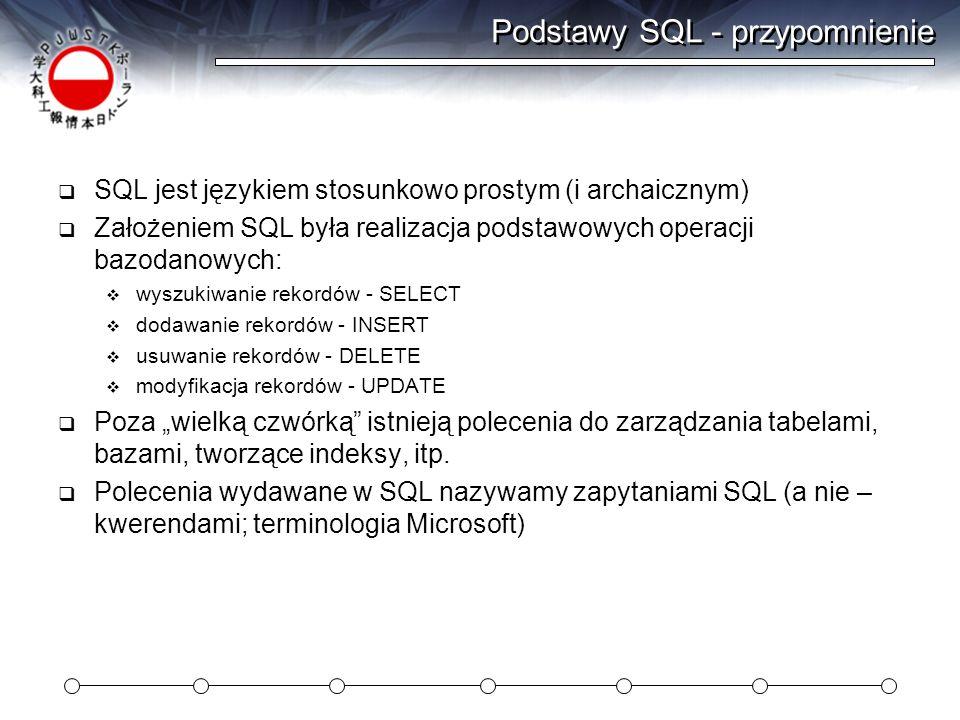 Podstawy SQL - przypomnienie