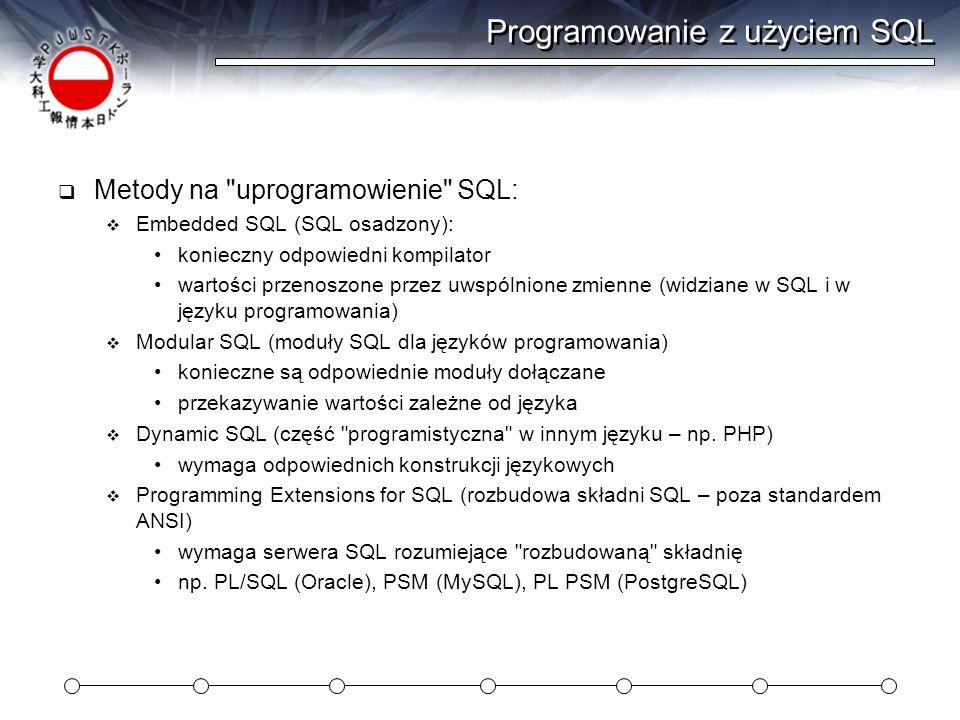 Programowanie z użyciem SQL