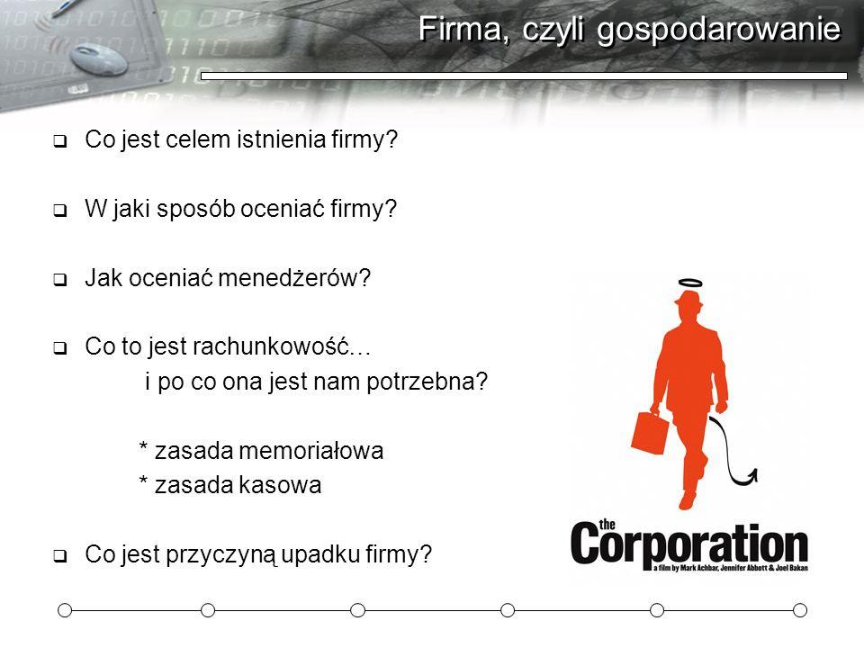 Firma, czyli gospodarowanie