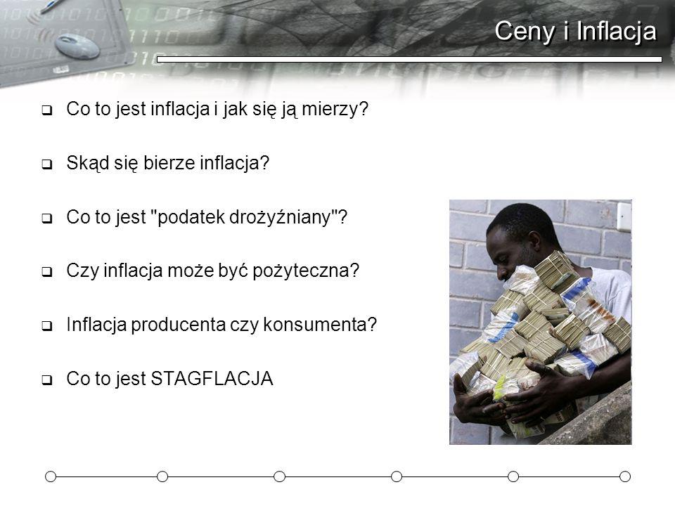 Ceny i Inflacja Co to jest inflacja i jak się ją mierzy