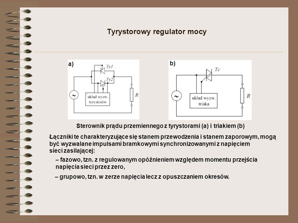 Tyrystorowy regulator mocy
