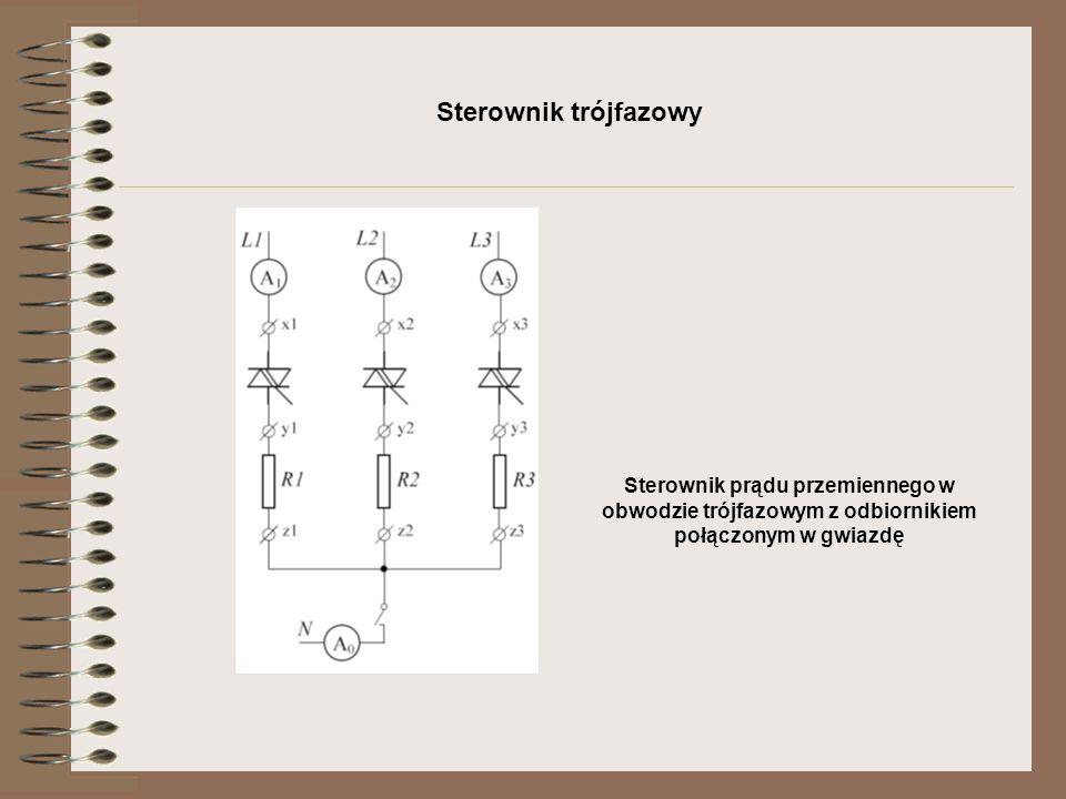 Sterownik trójfazowy Sterownik prądu przemiennego w obwodzie trójfazowym z odbiornikiem połączonym w gwiazdę.