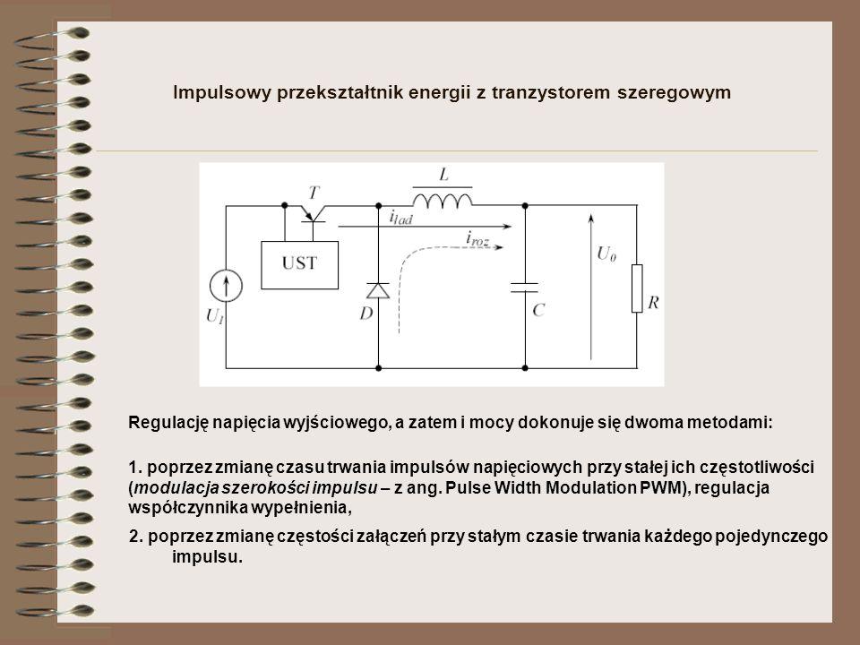 Impulsowy przekształtnik energii z tranzystorem szeregowym