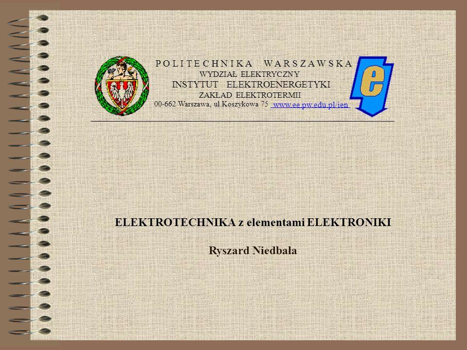 ELEKTROTECHNIKA z elementami ELEKTRONIKI