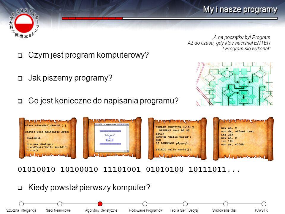 Czym jest program komputerowy Jak piszemy programy