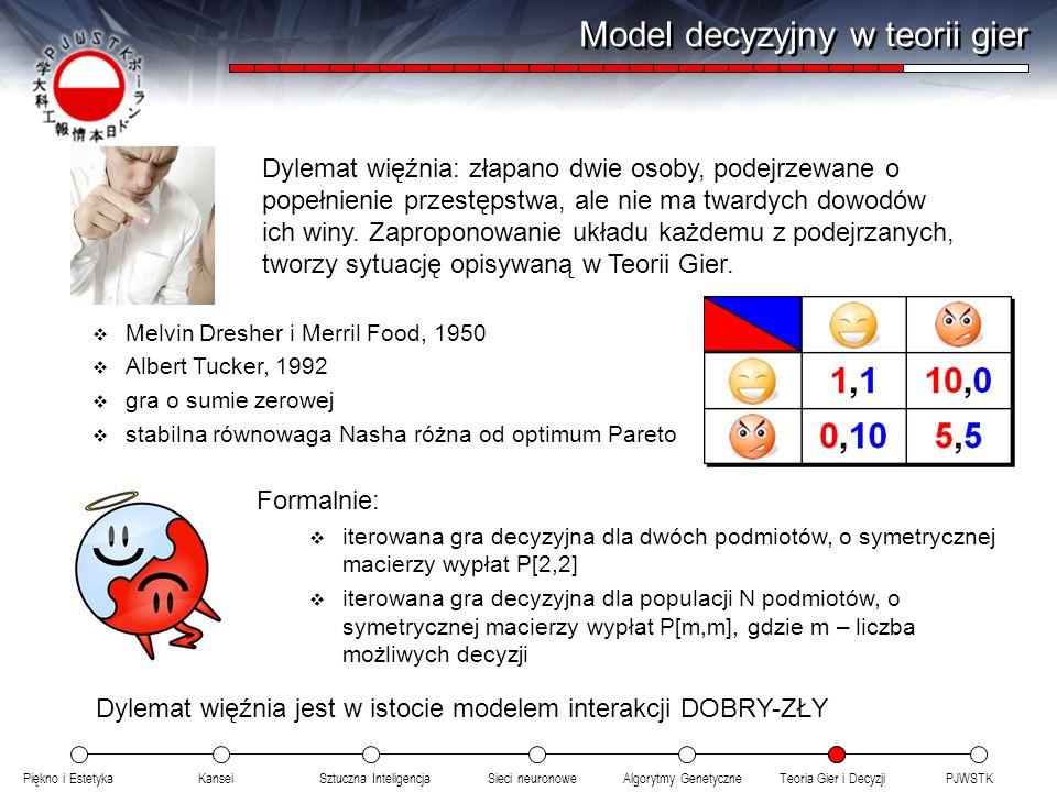 Model decyzyjny w teorii gier