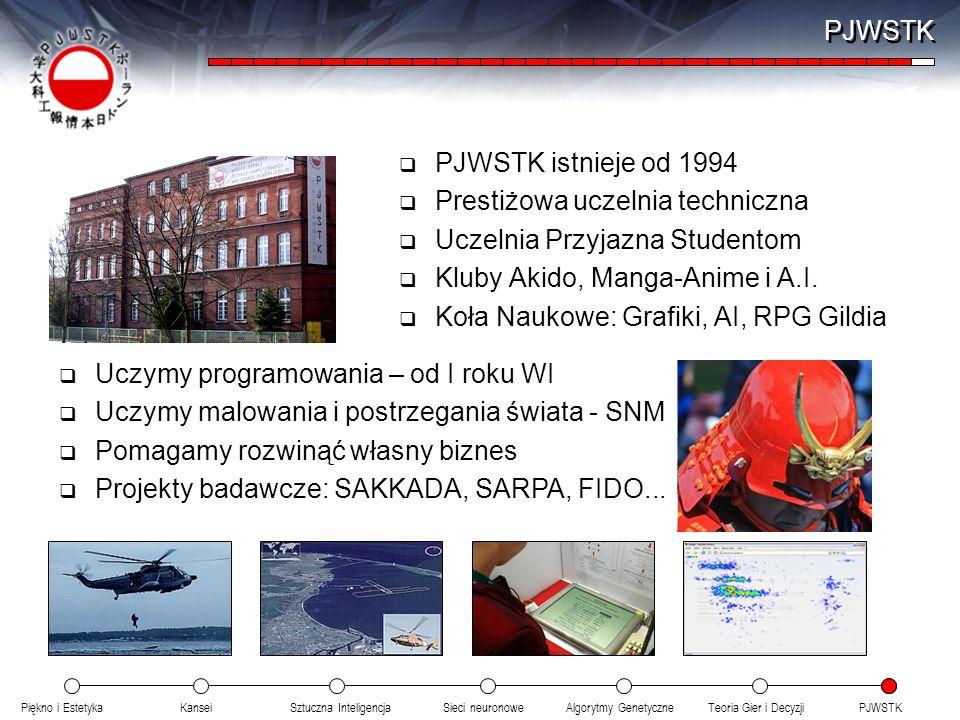 PJWSTK PJWSTK istnieje od 1994. Prestiżowa uczelnia techniczna. Uczelnia Przyjazna Studentom. Kluby Akido, Manga-Anime i A.I.