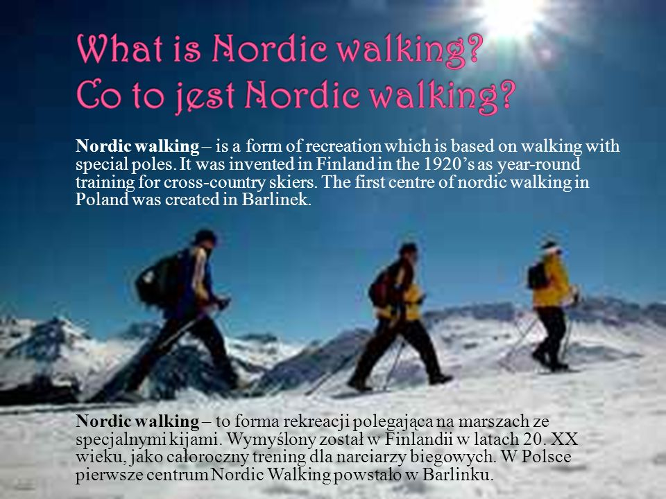 What is Nordic walking Co to jest Nordic walking