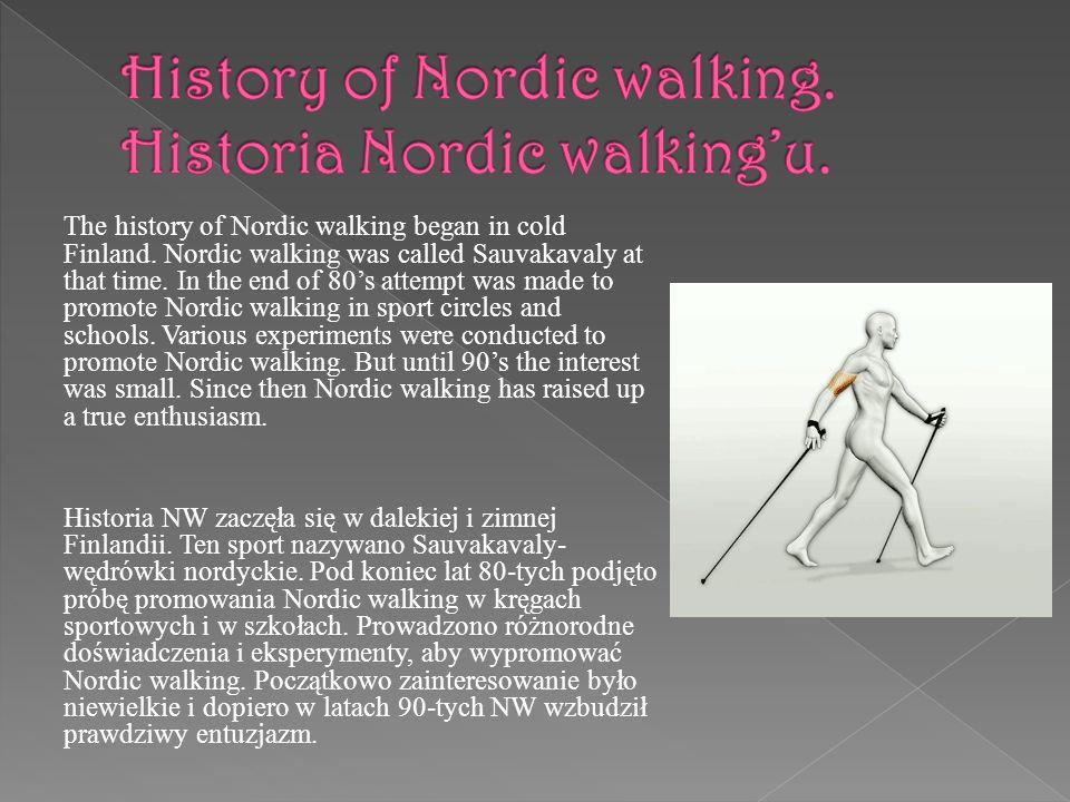 History of Nordic walking. Historia Nordic walking'u.