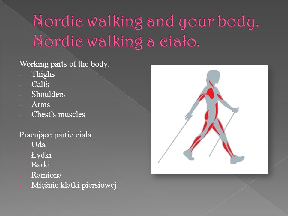 Nordic walking and your body. Nordic walking a ciało.
