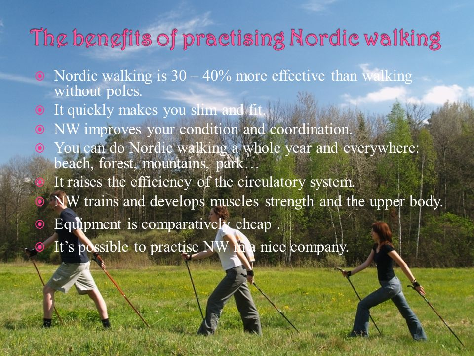 The benefits of practising Nordic walking