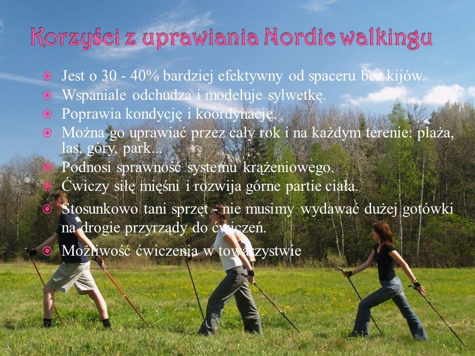Korzyści z uprawiania Nordic walkingu