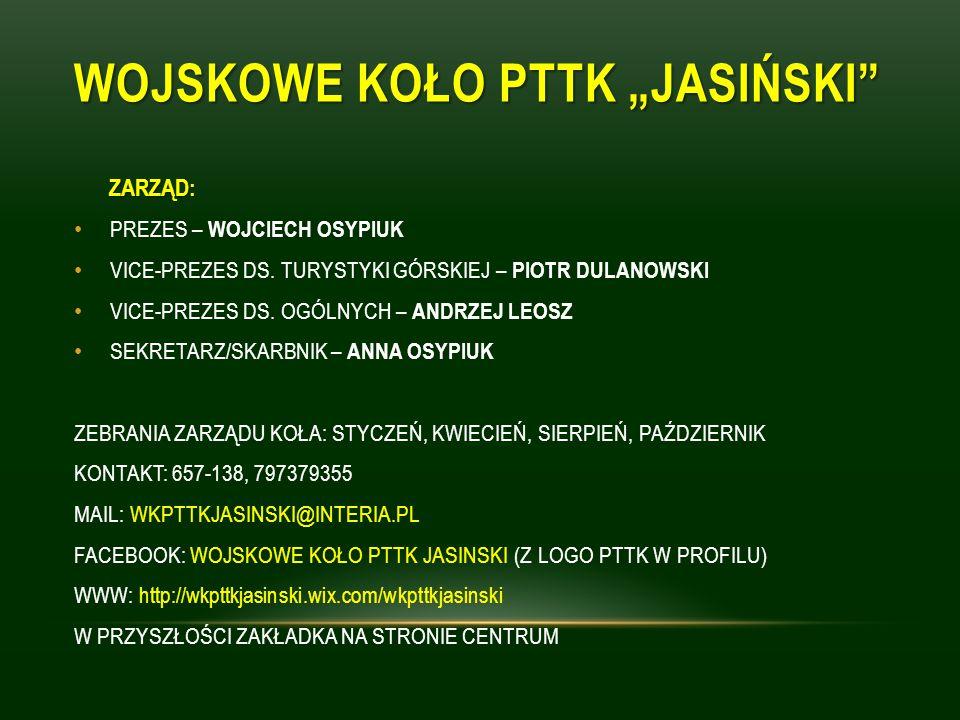 "WOJSKOWE KOŁO PTTK ""JASIŃSKI"